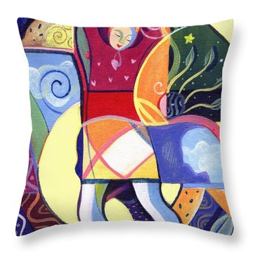 Leaping And Bouncing Throw Pillow