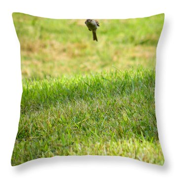 Leaping Bird Throw Pillow