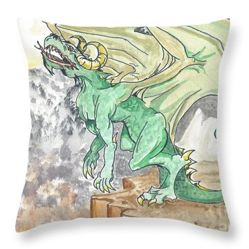 Leaping Dragon Throw Pillow