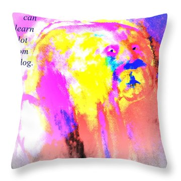 You Can Learn A Lot From The Dog Throw Pillow