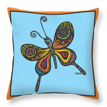 Learning To Fly Throw Pillow by Tanielle Childers