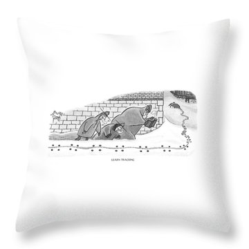 Learn Tracking Throw Pillow