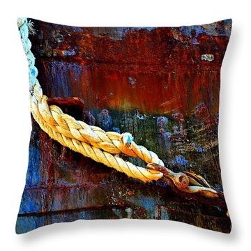Learning The Ropes Throw Pillow by Lauren Leigh Hunter Fine Art Photography
