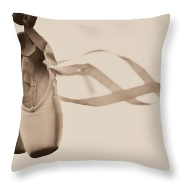 Learning To Fly Throw Pillow by Laura Fasulo