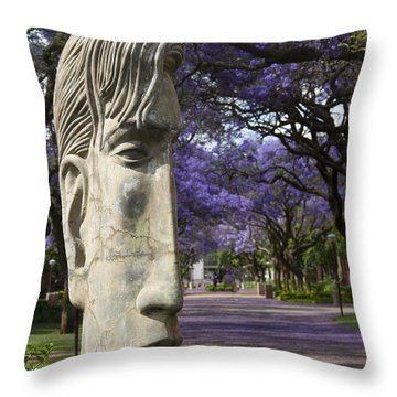 Throw Pillow featuring the photograph Learning To Love Purple by Taschja Hattingh