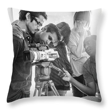 Learning Video Production In India On Throw Pillow