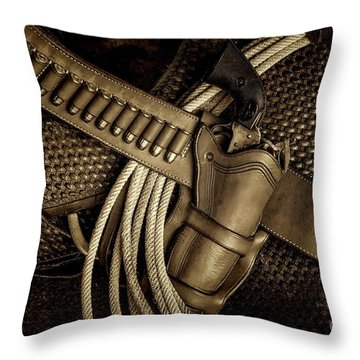 Leather And Lead Throw Pillow