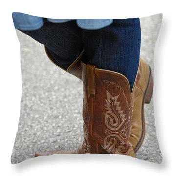 Leather Works Throw Pillow