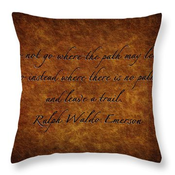 Leave A Trail Throw Pillow