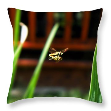 Throw Pillow featuring the photograph Leave No Bee Behind by Thomas Woolworth