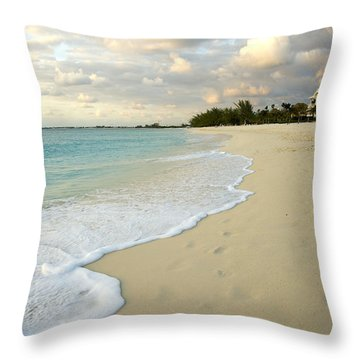 Leave Only Footprints In The Sand Throw Pillow