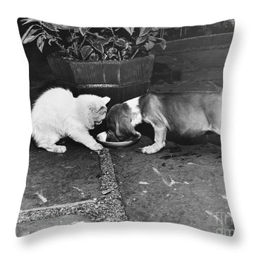 Leave Some Throw Pillow by M E Browning