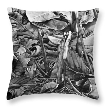 Leaves Throw Pillow by Aaron Spong