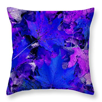 Leaves Throw Pillow by Aimee L Maher Photography and Art Visit ALMGallerydotcom