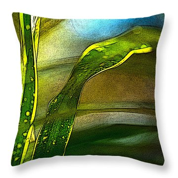 Leaves And Sky Throw Pillow