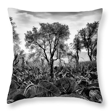 Garden Of Leaves Throw Pillow