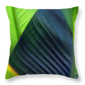 Throw Pillow featuring the photograph Leaves - Green by Haleh Mahbod