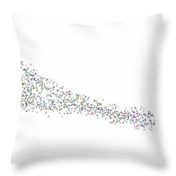 Throw Pillow featuring the digital art Leaves In The Wind... by Tim Fillingim