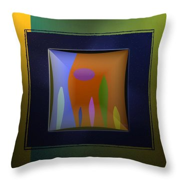 Leaves On The Field Throw Pillow