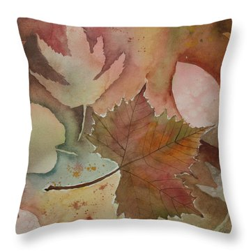 Leaves Throw Pillow by Patricia Novack