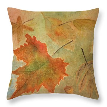 Leaves Vll Throw Pillow by Patricia Novack