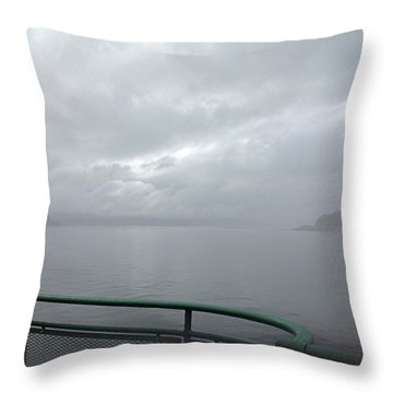 Leaving Bremerton Throw Pillow