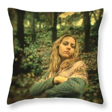 Leaving Eden Throw Pillow by Taylan Apukovska