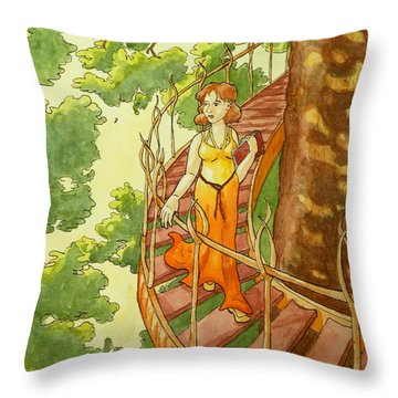 Leaving Her City Throw Pillow
