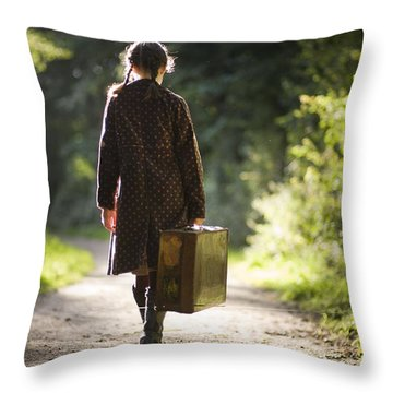 Leaving Home Throw Pillow by Lee Avison