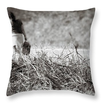 Throw Pillow featuring the photograph Leaving by Jason Politte