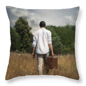 Leaving Throw Pillow by Joana Kruse