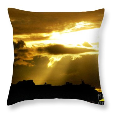 Throw Pillow featuring the photograph Leaving Kona by David Lawson