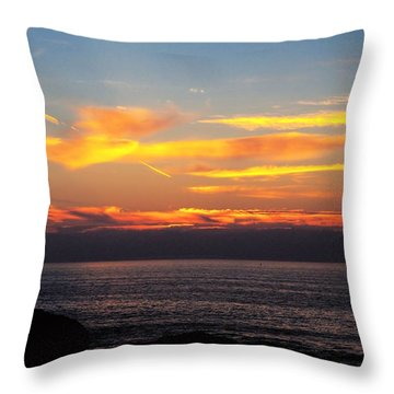 Throw Pillow featuring the photograph Leaving On A Jet Plane by Bob Wall