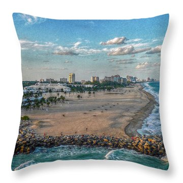 Leaving Port Everglades Throw Pillow by Hanny Heim