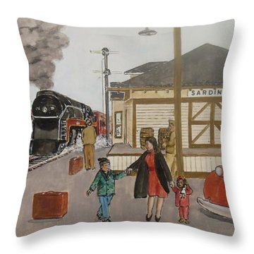 Leaving Sardinia 1944 Throw Pillow