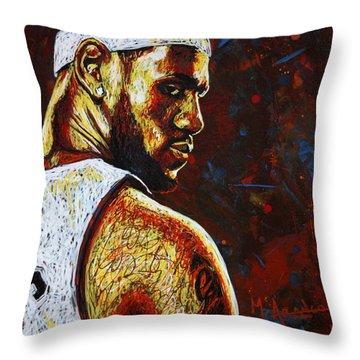 Lebron  Throw Pillow