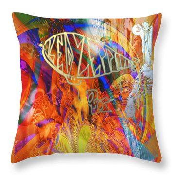 Led Shred Throw Pillow