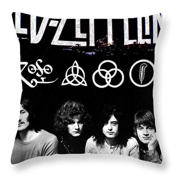 Led Zeppelin Throw Pillow by FHT Designs