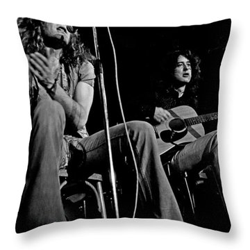 Led Zeppelin Throw Pillow by Georgia Fowler