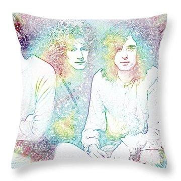 Led Zeppelin Tie Dye Throw Pillow by Dan Sproul