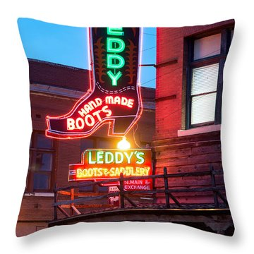 Leddy Hand Made Boots 031315 Throw Pillow