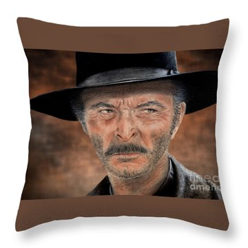 Lee Van Cleef As Angel Eyes In The Good The Bad And The Ugly Version II Throw Pillow