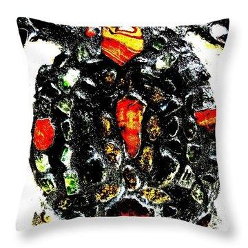 Leeky Turtle Throw Pillow by Lisa Brandel
