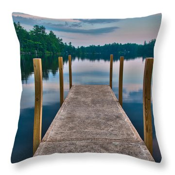 Lees Mills Dock Throw Pillow