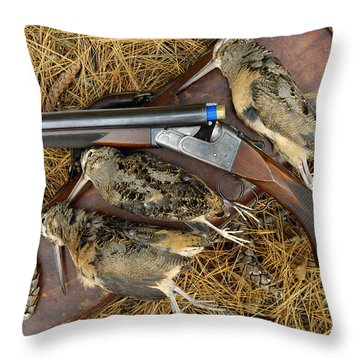 Lefever And Timberdoodle - D004023 Throw Pillow by Daniel Dempster