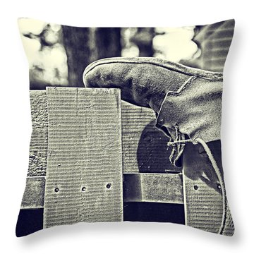 Left Behind Throw Pillow by Karol Livote