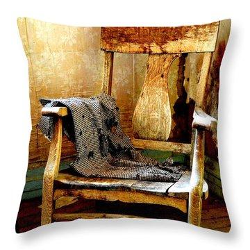Left Behind Throw Pillow by Lauren Leigh Hunter Fine Art Photography