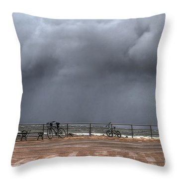 Left In The Power Of The Storm Throw Pillow by Evelina Kremsdorf
