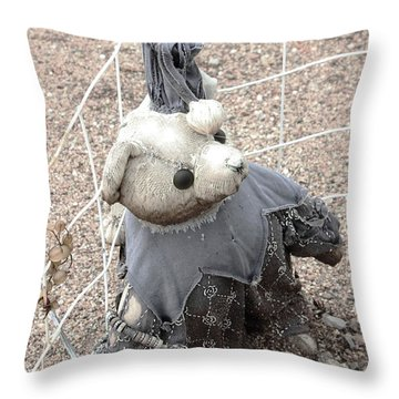 Left Outside Alone Throw Pillow