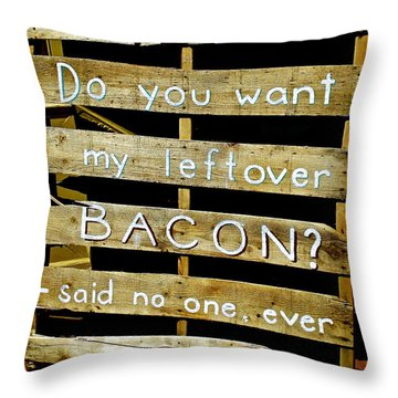 Leftover Bacon Throw Pillow